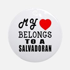 I Love Sao Salvadoran Round Ornament