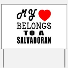 I Love Sao Salvadoran Yard Sign