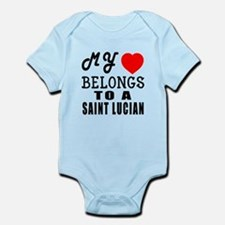 I Love Saint Lucian Infant Bodysuit