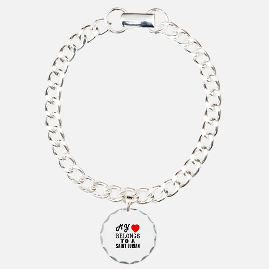I Love Saint Lucian Bracelet