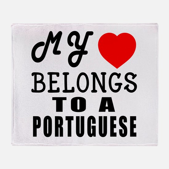 I Love Portuguese Throw Blanket