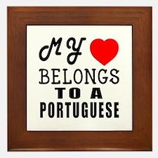 I Love Portuguese Framed Tile