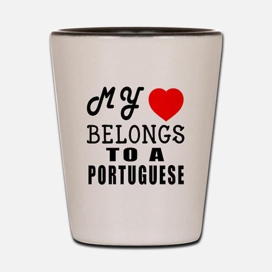 I Love Portuguese Shot Glass