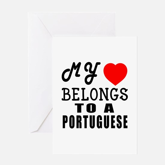 I Love Portuguese Greeting Card