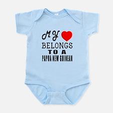 I Love Papua New Guinean Infant Bodysuit