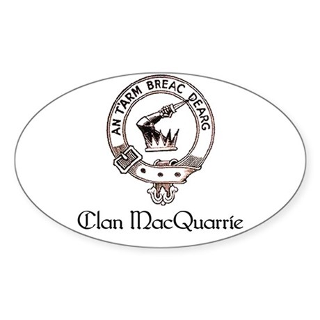 MacQuarrie Clan Oval Sticker