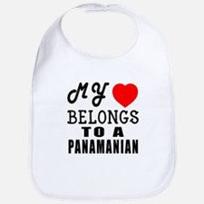 I Love Panamanian Bib