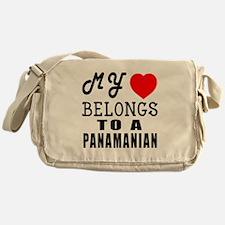 I Love Panamanian Messenger Bag