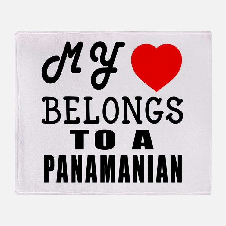 I Love Panamanian Throw Blanket
