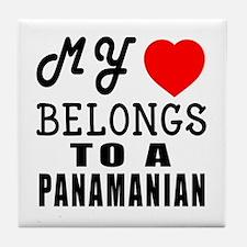 I Love Panamanian Tile Coaster