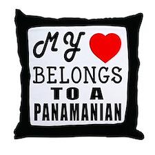 I Love Panamanian Throw Pillow