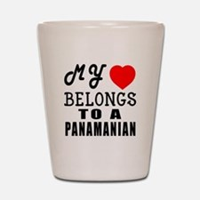 I Love Panamanian Shot Glass