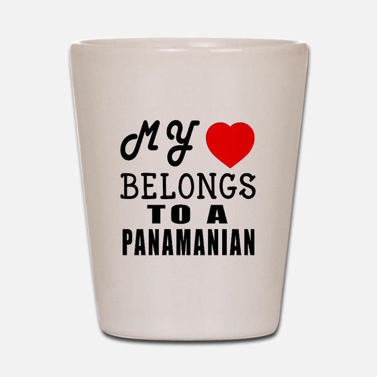 I Love Panamanian Shot Glass