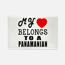 I Love Panamanian Rectangle Magnet