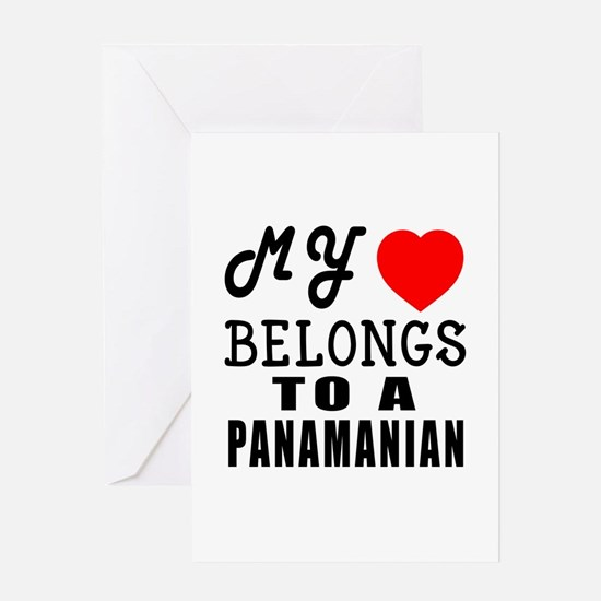 I Love Panamanian Greeting Card