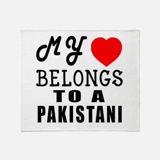 I Love Pakistani Throw Blanket