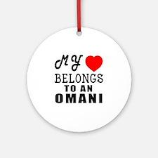 I Love Omani Round Ornament