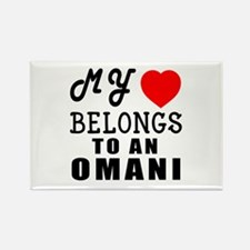 I Love Omani Rectangle Magnet