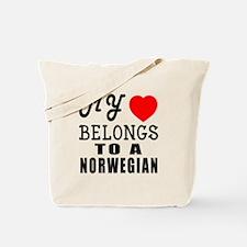 I Love Norwegian Tote Bag