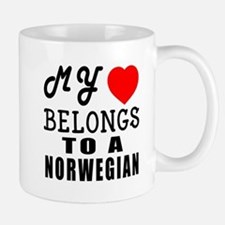 I Love Norwegian Small Small Mug