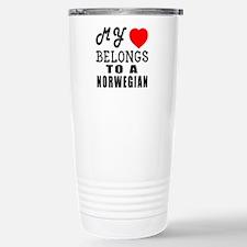 I Love Norwegian Travel Mug