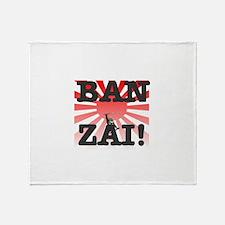 BANZAI - RISING SUN! Throw Blanket