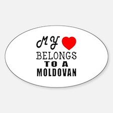 I Love Moldovan Sticker (Oval)
