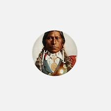Cute Native american braves chiefs Mini Button