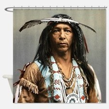 Unique Native american warrior Shower Curtain