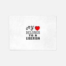I Love Liberian 5'x7'Area Rug