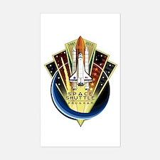 Shuttle Commemorative Sticker (rectangle)
