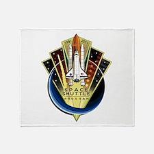 Shuttle Commemorative Throw Blanket