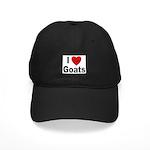I Love Goats for Goat Lovers Black Cap