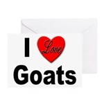 I Love Goats for Goat Lovers Greeting Cards (Packa