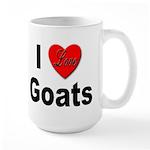 I Love Goats for Goat Lovers Large Mug