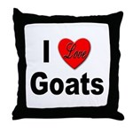 I Love Goats for Goat Lovers Throw Pillow