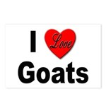 I Love Goats for Goat Lovers Postcards (Package of