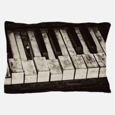Funny Old worn piano Pillow Case