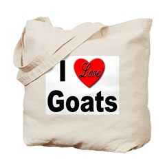 I Love Goats for Goat Lovers Tote Bag