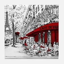 Cute Paris Tile Coaster