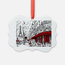 Cute Paris france Ornament
