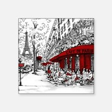 "Paris france Square Sticker 3"" x 3"""