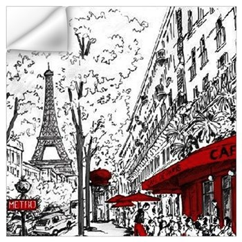 Paris Decals Wall Art paris wall decals | paris wall stickers & wall peels