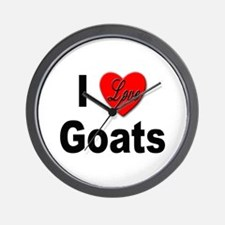 I Love Goats for Goat Lovers Wall Clock
