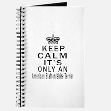American Staffordshire Terrier Keep Calm D Journal