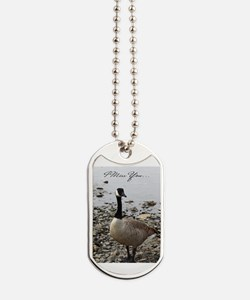Cute Canadian geese Dog Tags