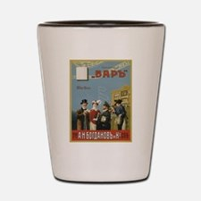 Vintage poster - Russian cigarettes Shot Glass