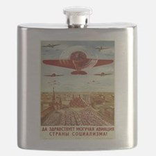Vintage poster - Russian plane Flask