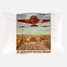 Vintage poster - Russian plane Pillow Case