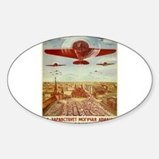 Vintage poster - Russian plane Decal